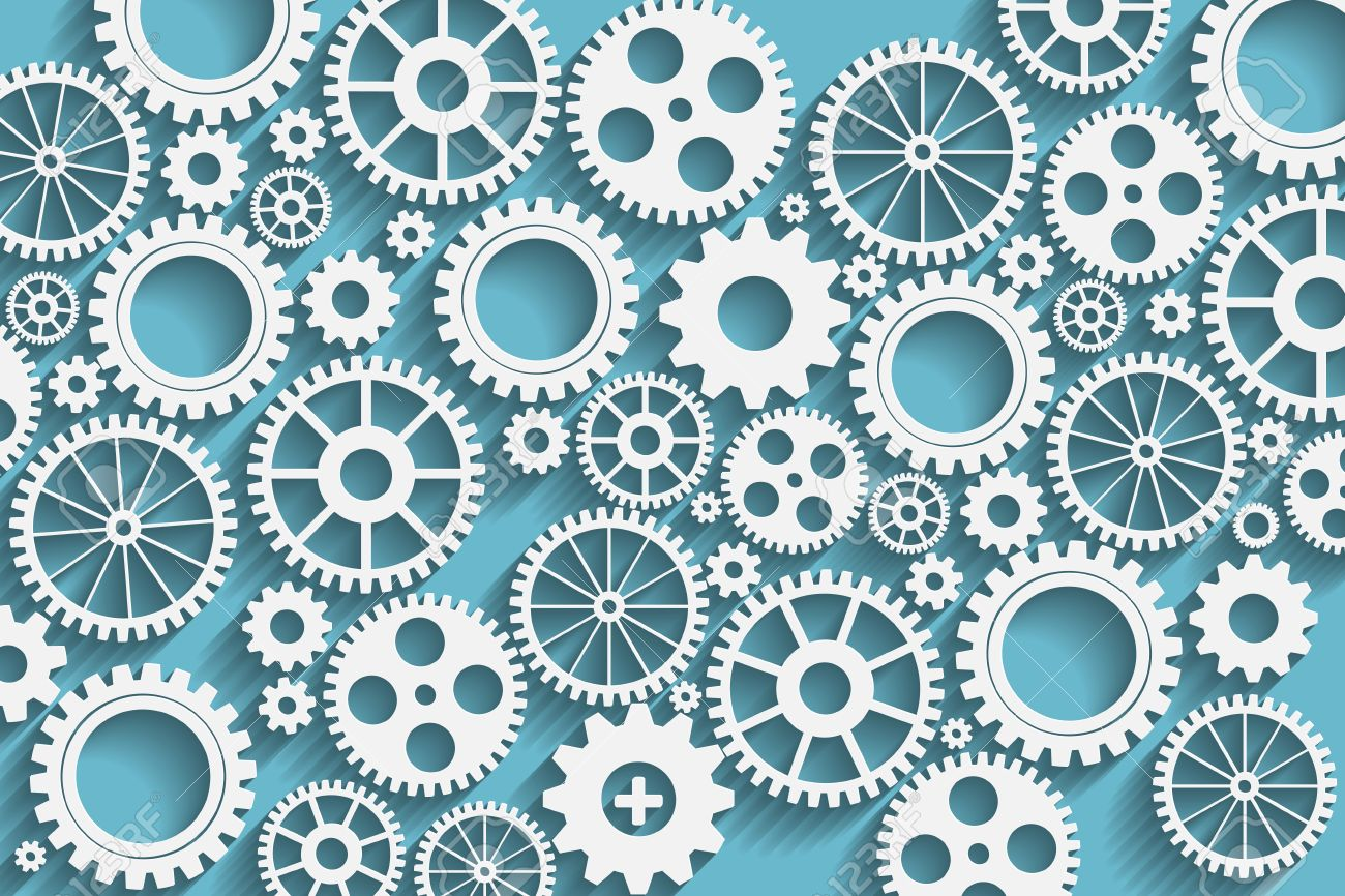 Creative Blue Gears Background Royalty Cliparts Vectors 1300x866