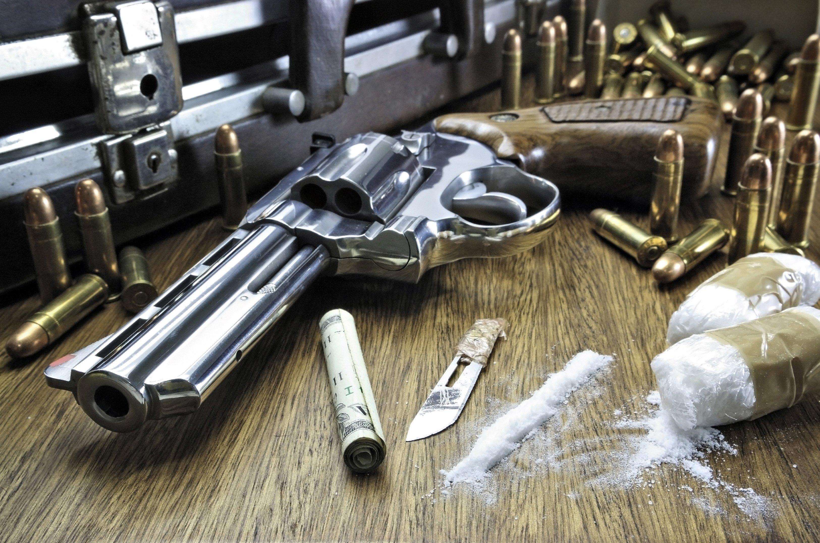 drugs cocaine dark weapon gun cigarette ammo bullet crime wallpaper 3250x2150