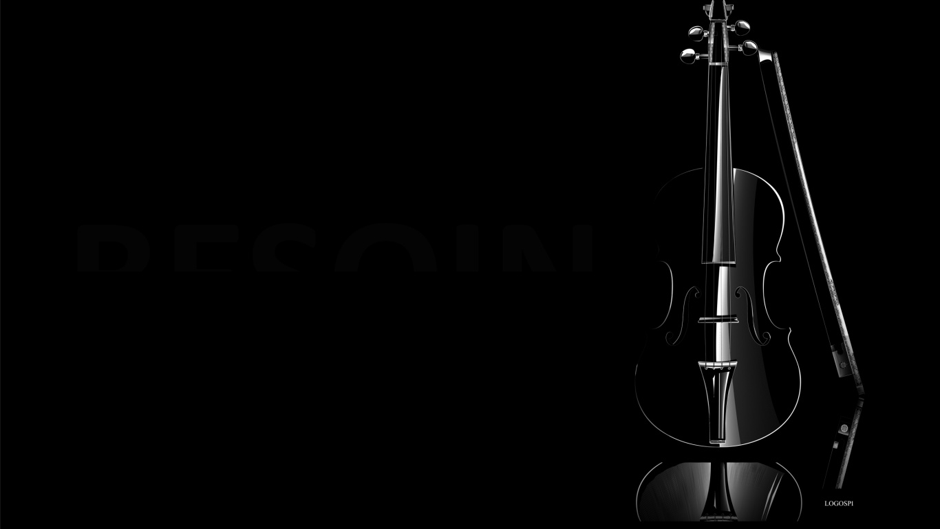 1366x768 black violin desktop PC and Mac wallpaper 1366x768