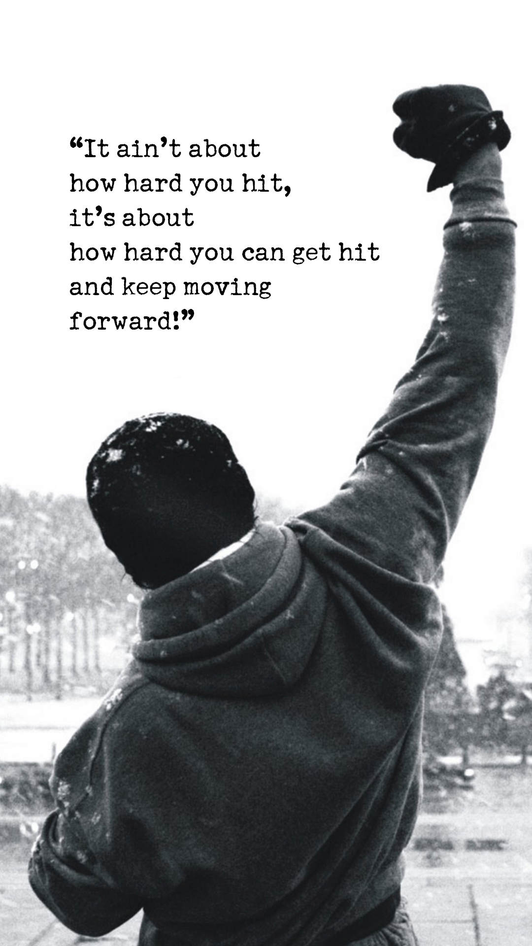 Rocky Motivational Words Android Wallpaper download 1080x1920