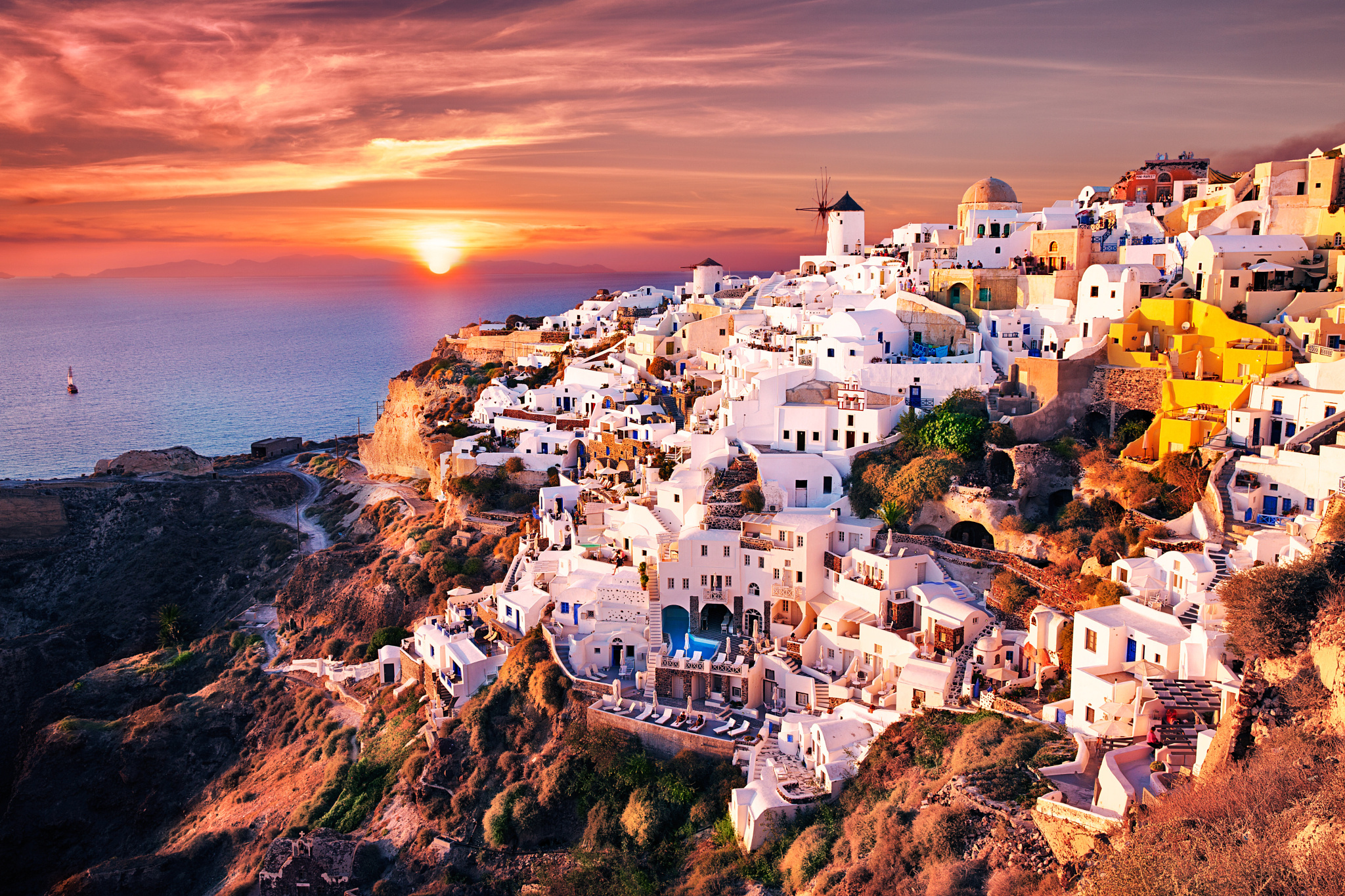 62 Santorini HD Wallpapers Background Images 2048x1365