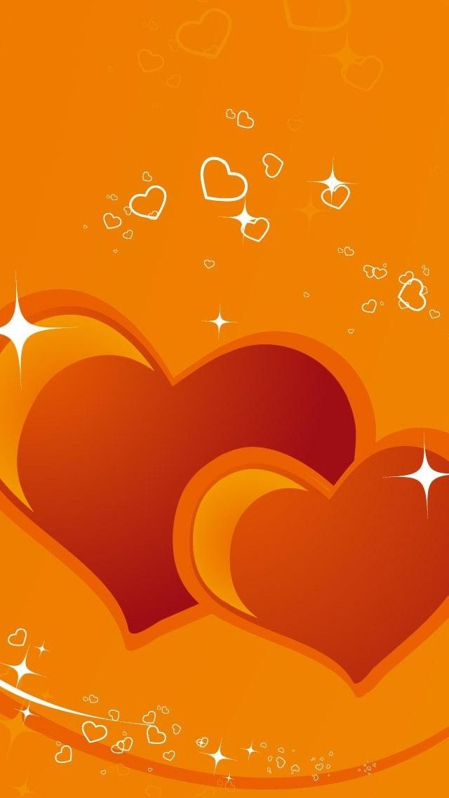 orange iphone wallpaper Valentines Day Wallpaper 640x1136