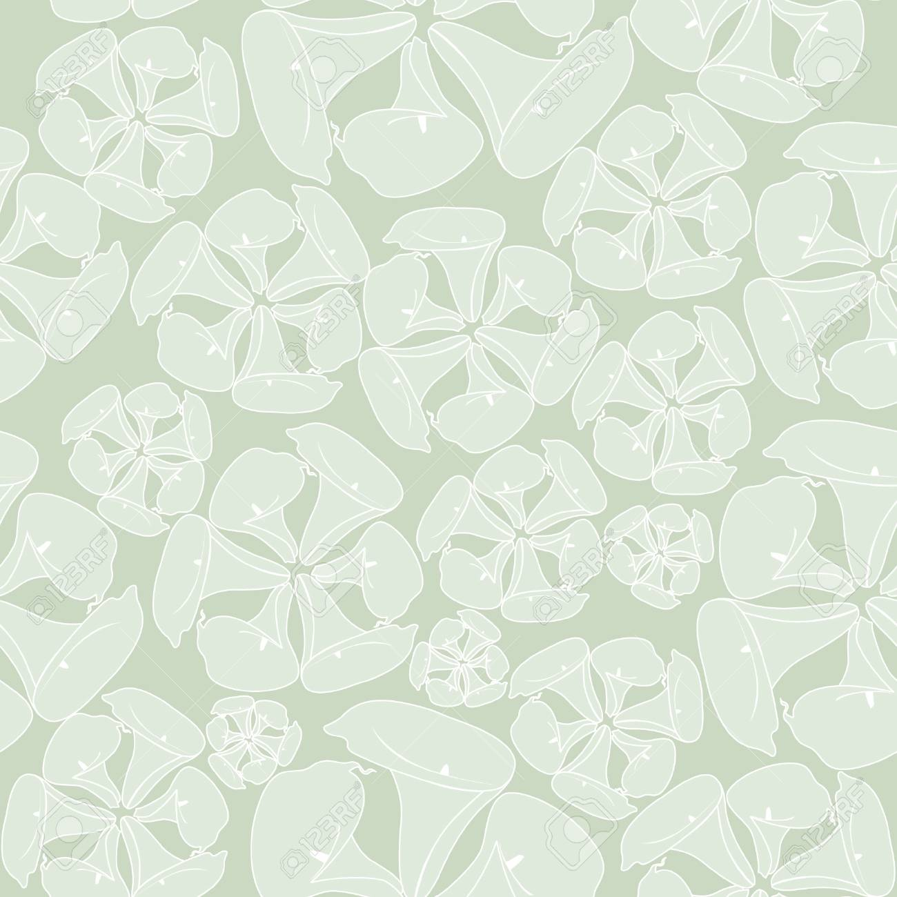 Seamless Pattern With White Flowers Cal On Pastel Background 1300x1300