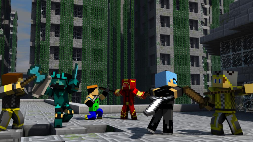 Minecraft Skins battle WallpaperPVP Time by jesusromerox on 1024x576