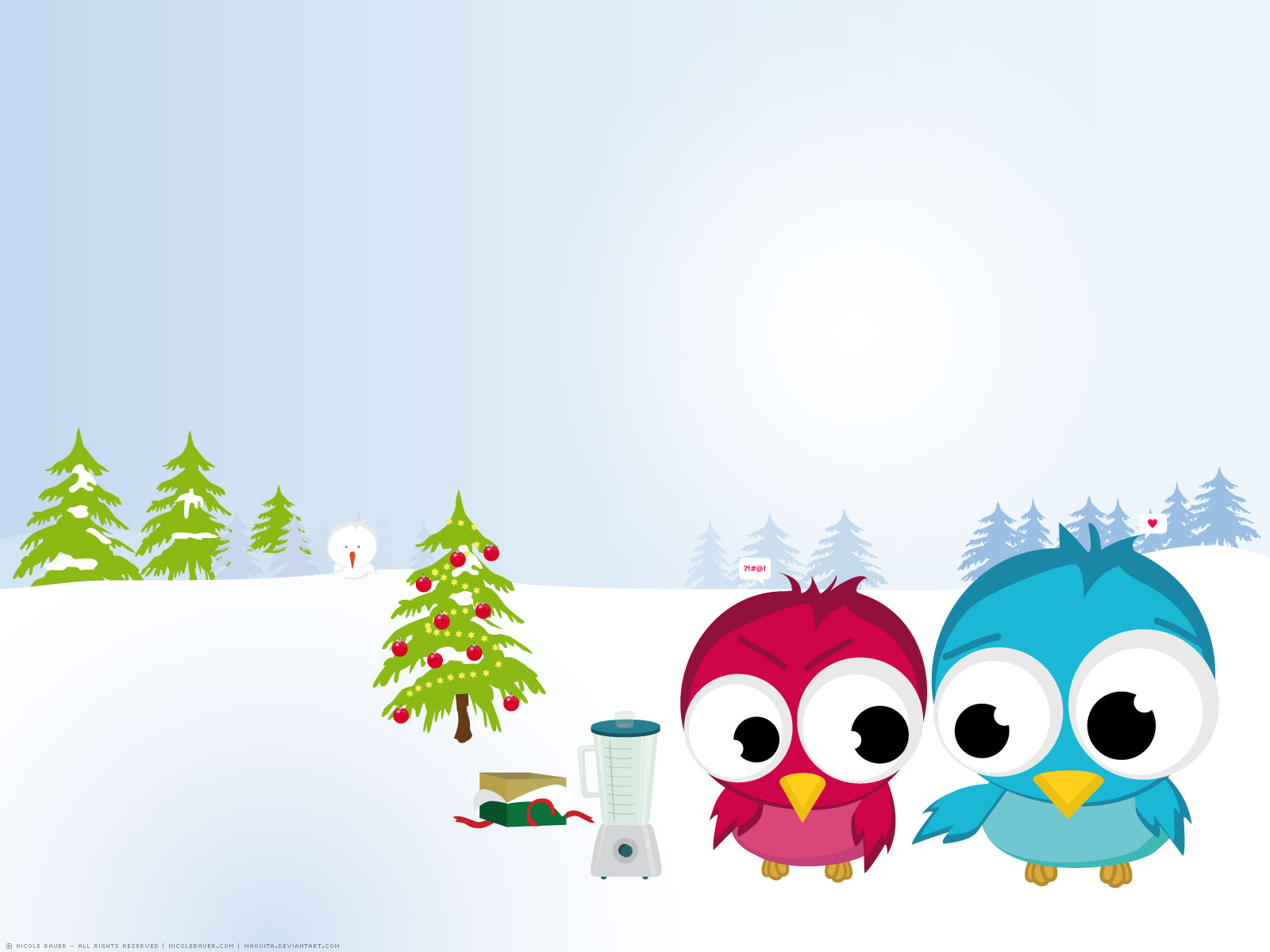 Funny Christmas Birds Wallpapers HD Wallpapers 1600x1200