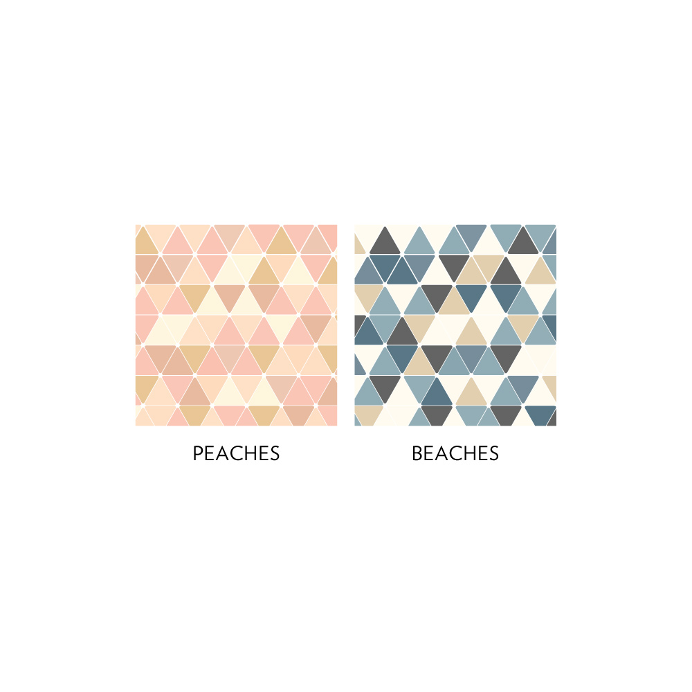 Triangles Removable Wallpaper Tile 1000x1000