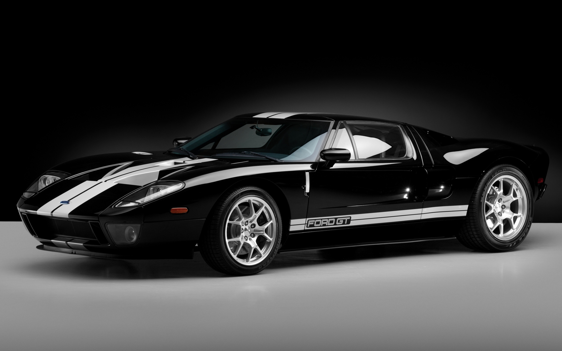 Black Ford Gt HD Wallpaper 1920x1200