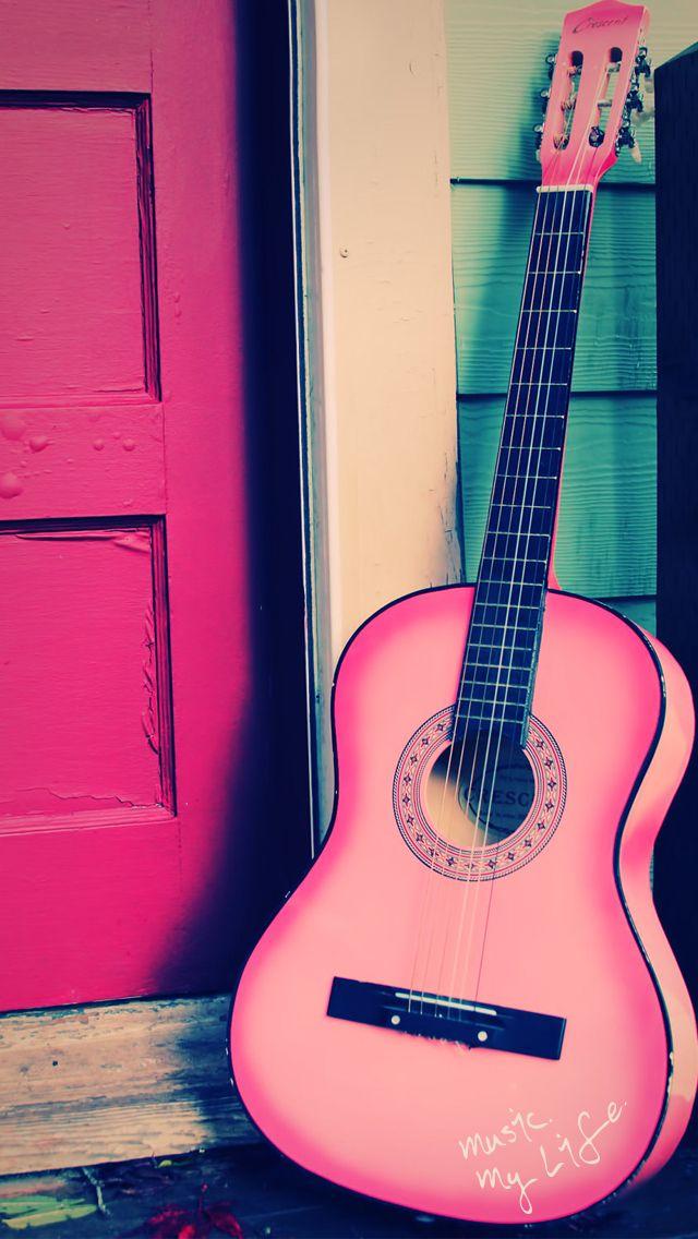 Free Download Art Prints Pink Music Pink Guitar Acoustic Guitar Pink Doors 640x1136 For Your Desktop Mobile Tablet Explore 49 Guitar Iphone Wallpaper Awesome Guitar Wallpapers Guitar Wallpaper For