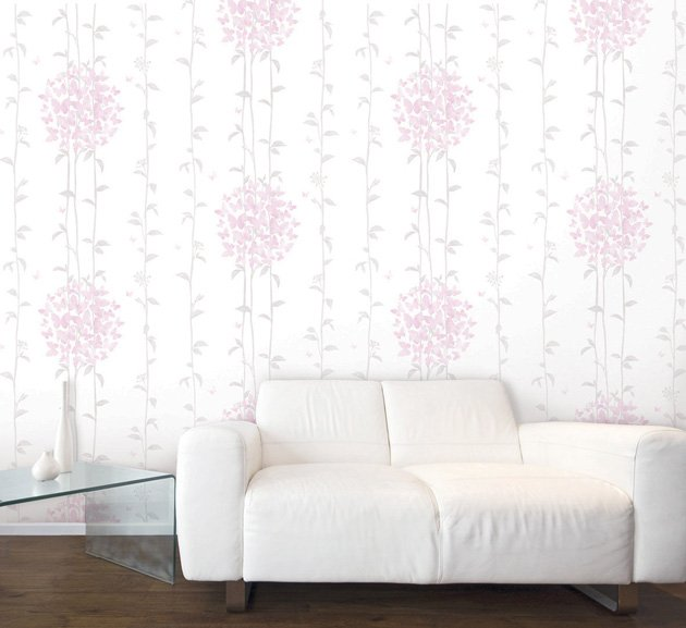 an art to hanging Floral Self Adhesive Bedroom Wallpaper Home Depot 630x577