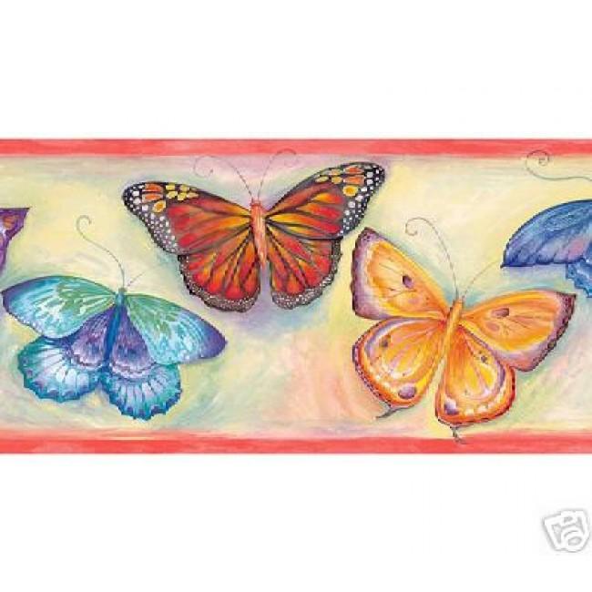 Butterfly Wallpaper Borders For Kitchen Wallpapersafari
