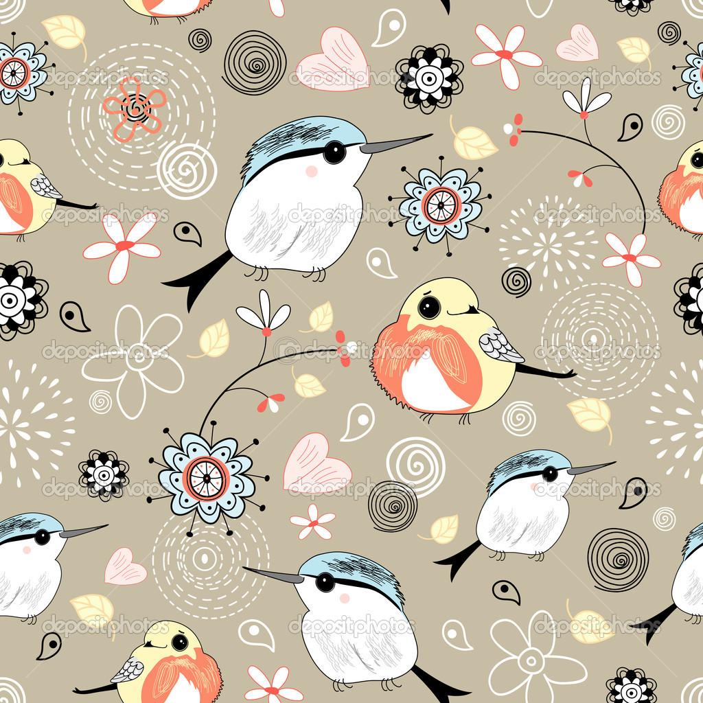 Bird Wallpaper Pattern Displaying images for bird wallpaper pattern 1024x1024
