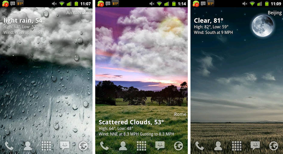 best live weather wallpaper wallpapersafari