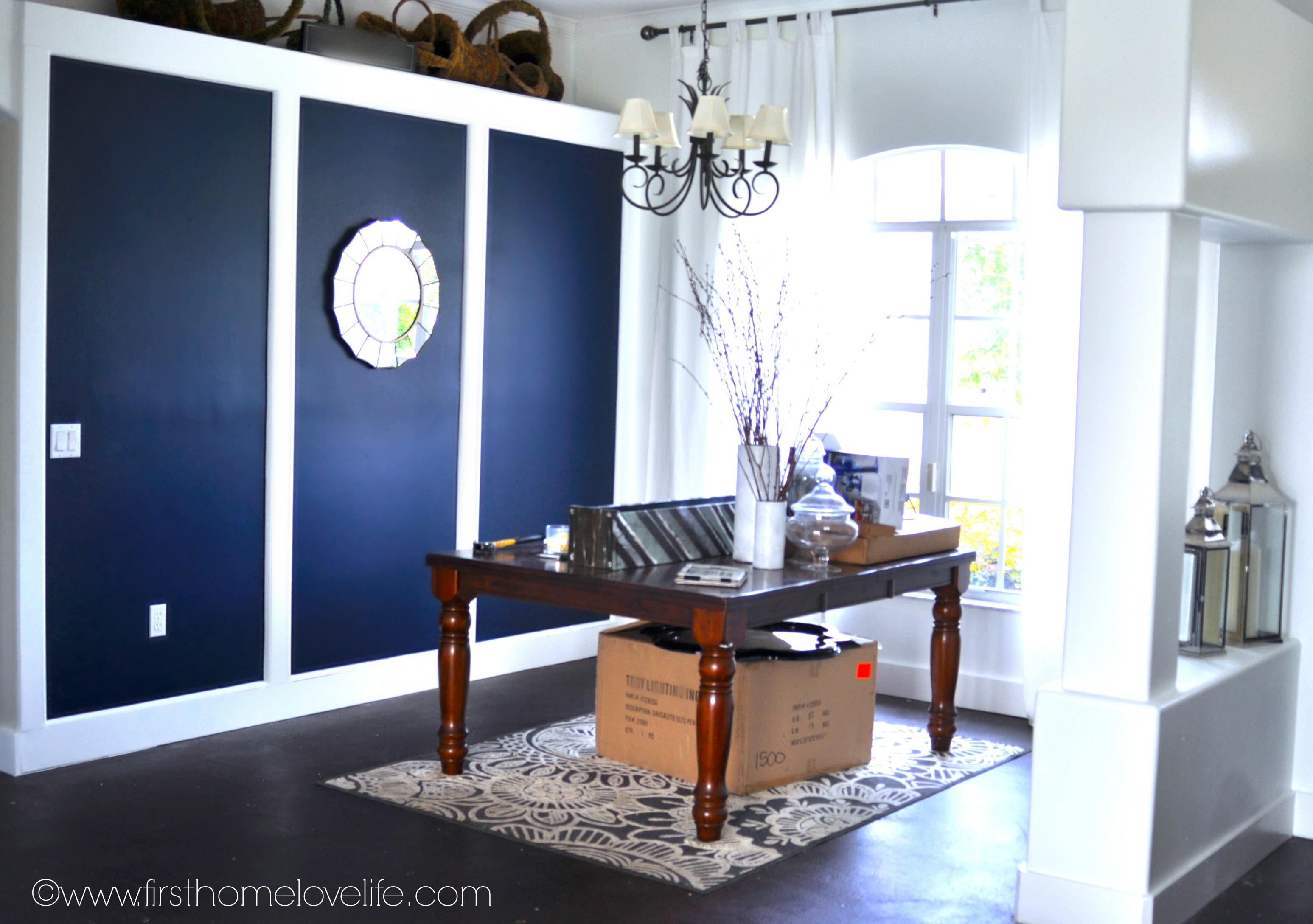 Navy Blue Wallpaper Living Room Homebase Wallpaper