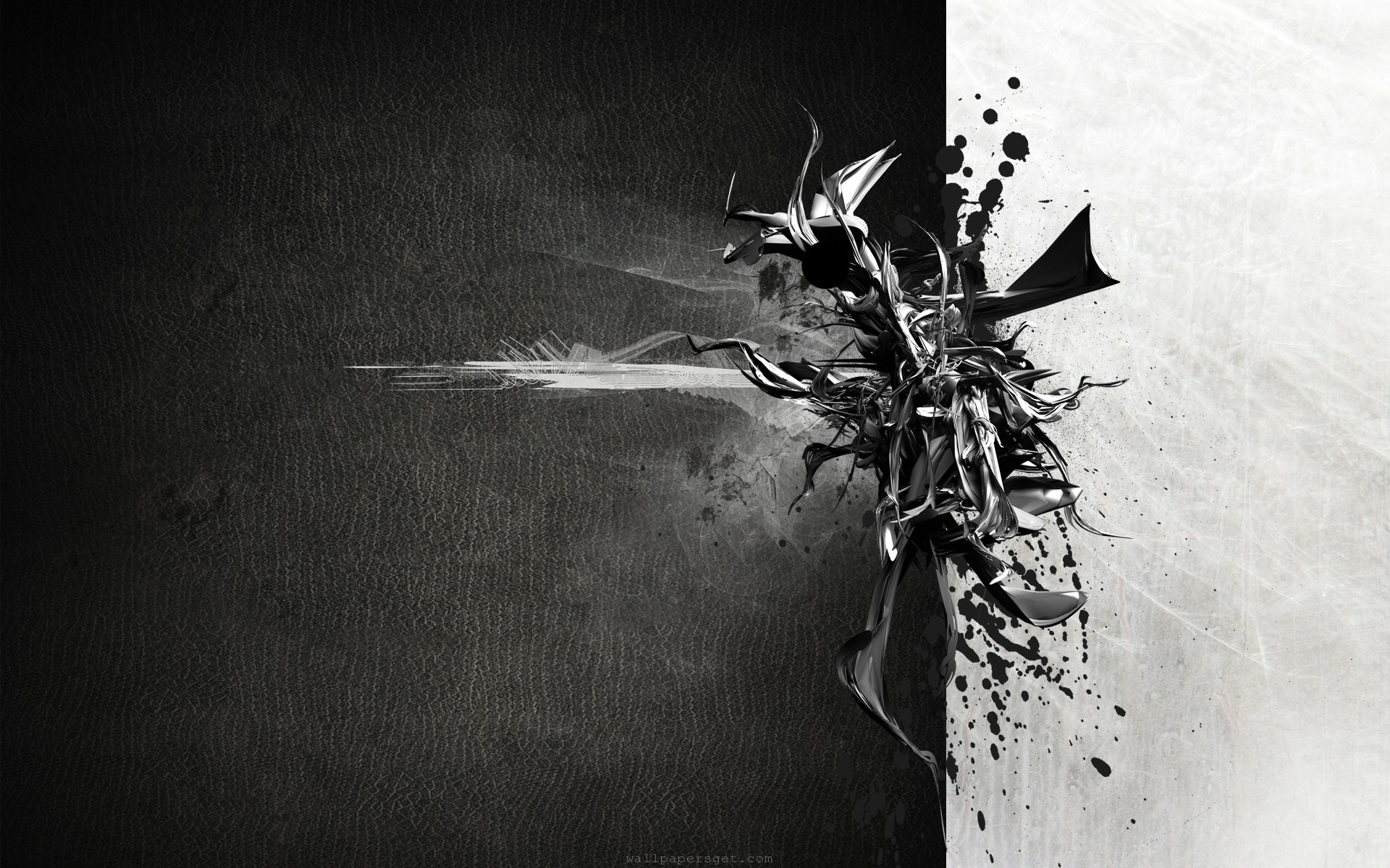 Black And White Abstract Wallpaper - WallpaperSafari