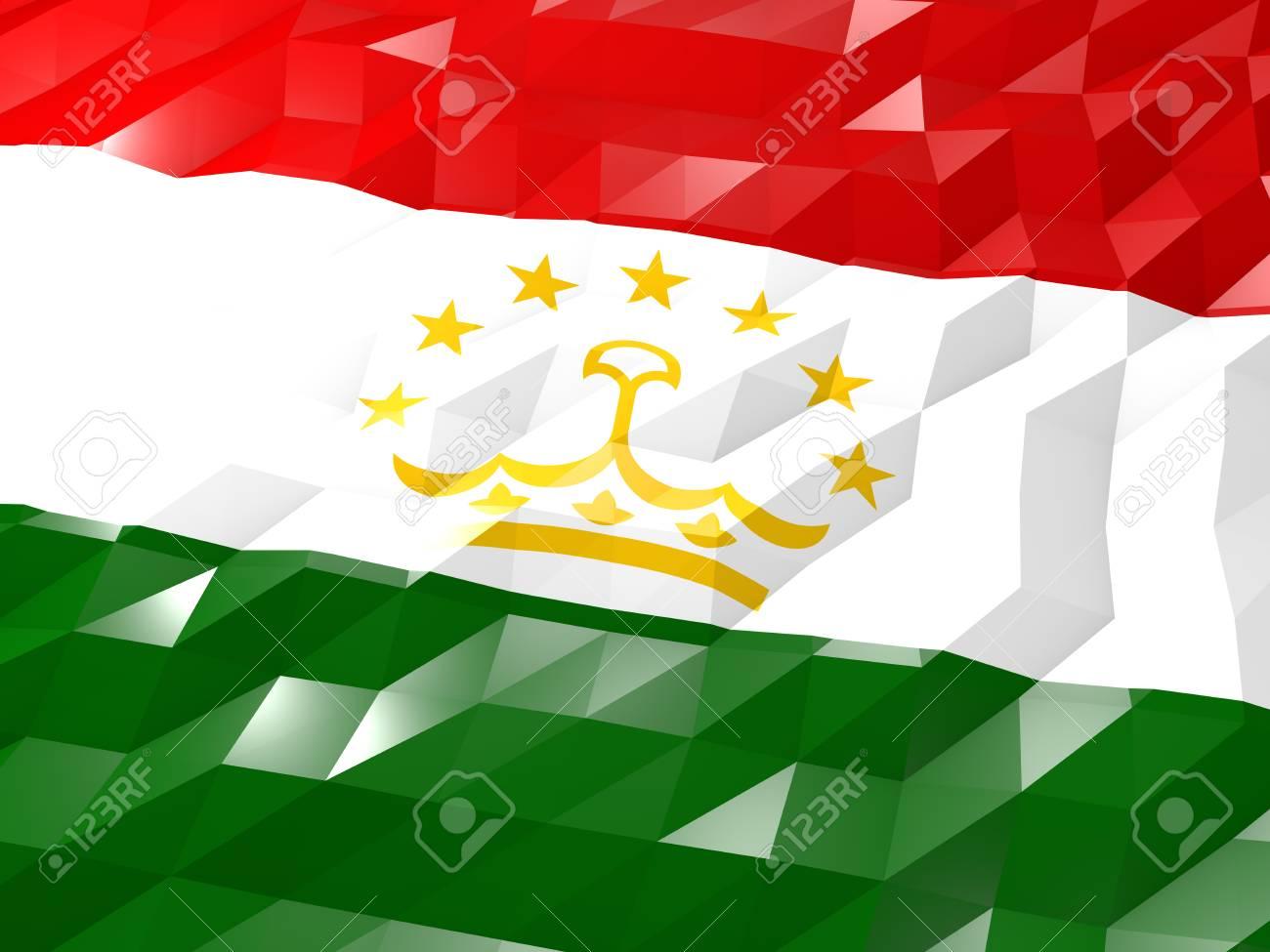 Flag Of Tajikistan 3D Wallpaper Illustration National Symbol 1300x975