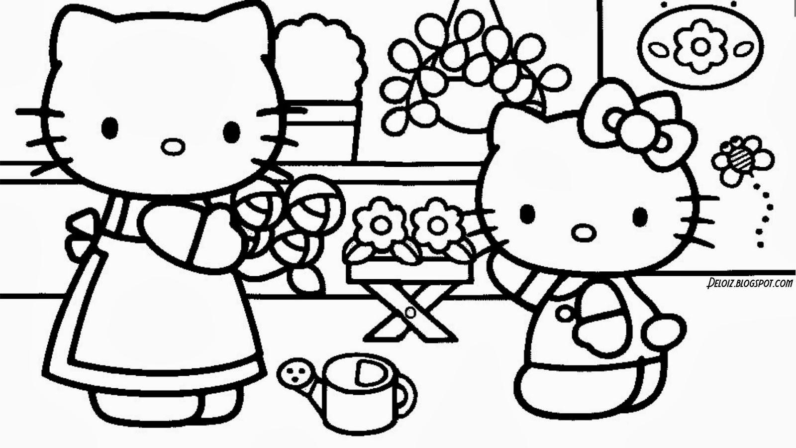 Gambar Hello Kitty Untuk Diwarnai Deloiz Wallpaper 1600x900