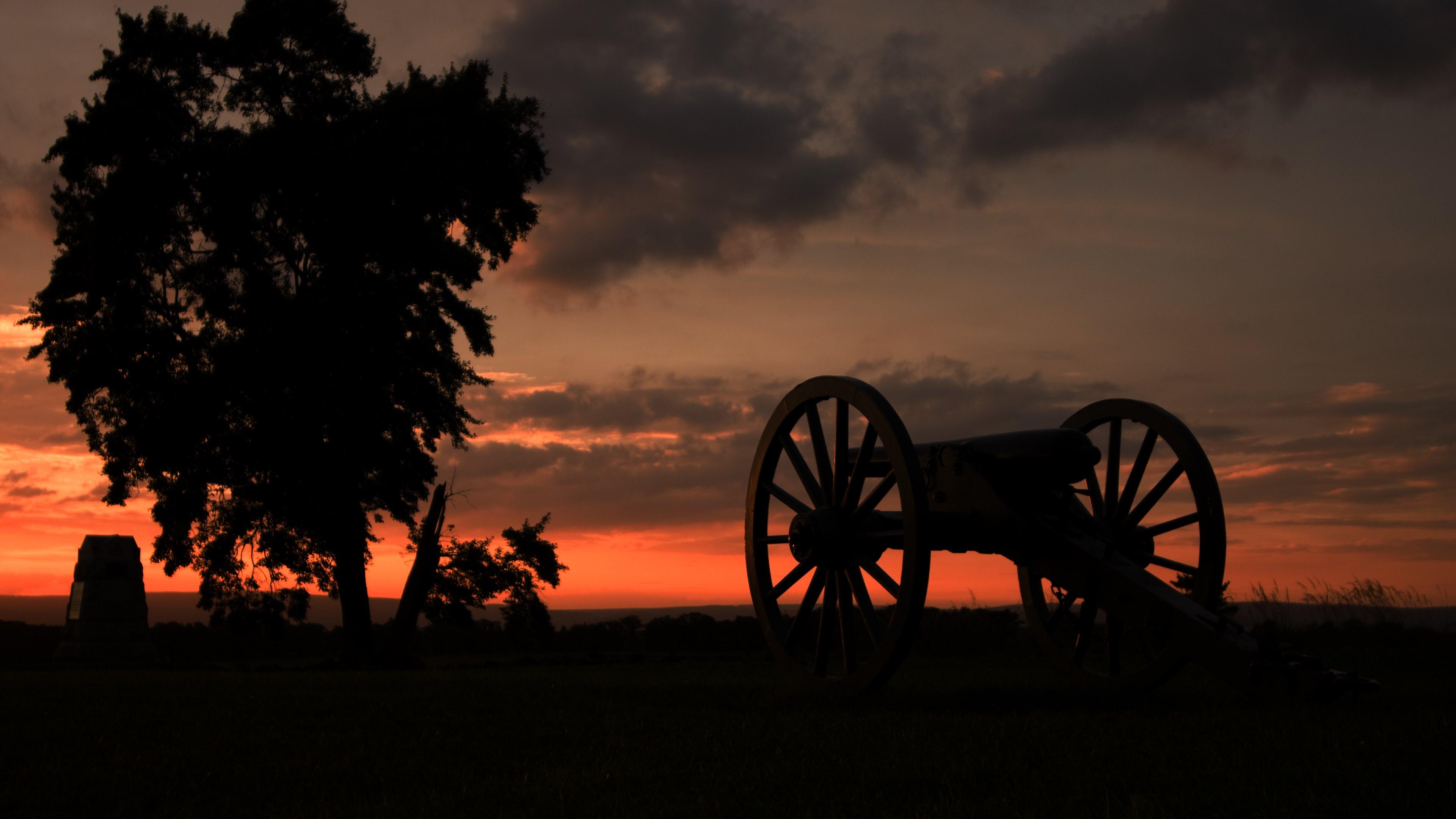 charge gettysburg cannon wallpaper widescreen desktop macbook retina 3840x2160