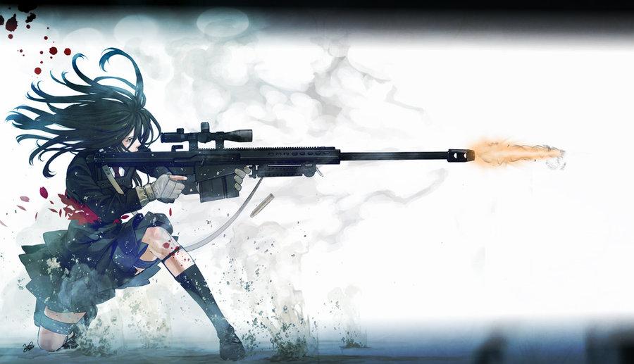 Anime sniper girl Wallpaper by Nolan989890 on deviantART 900x517