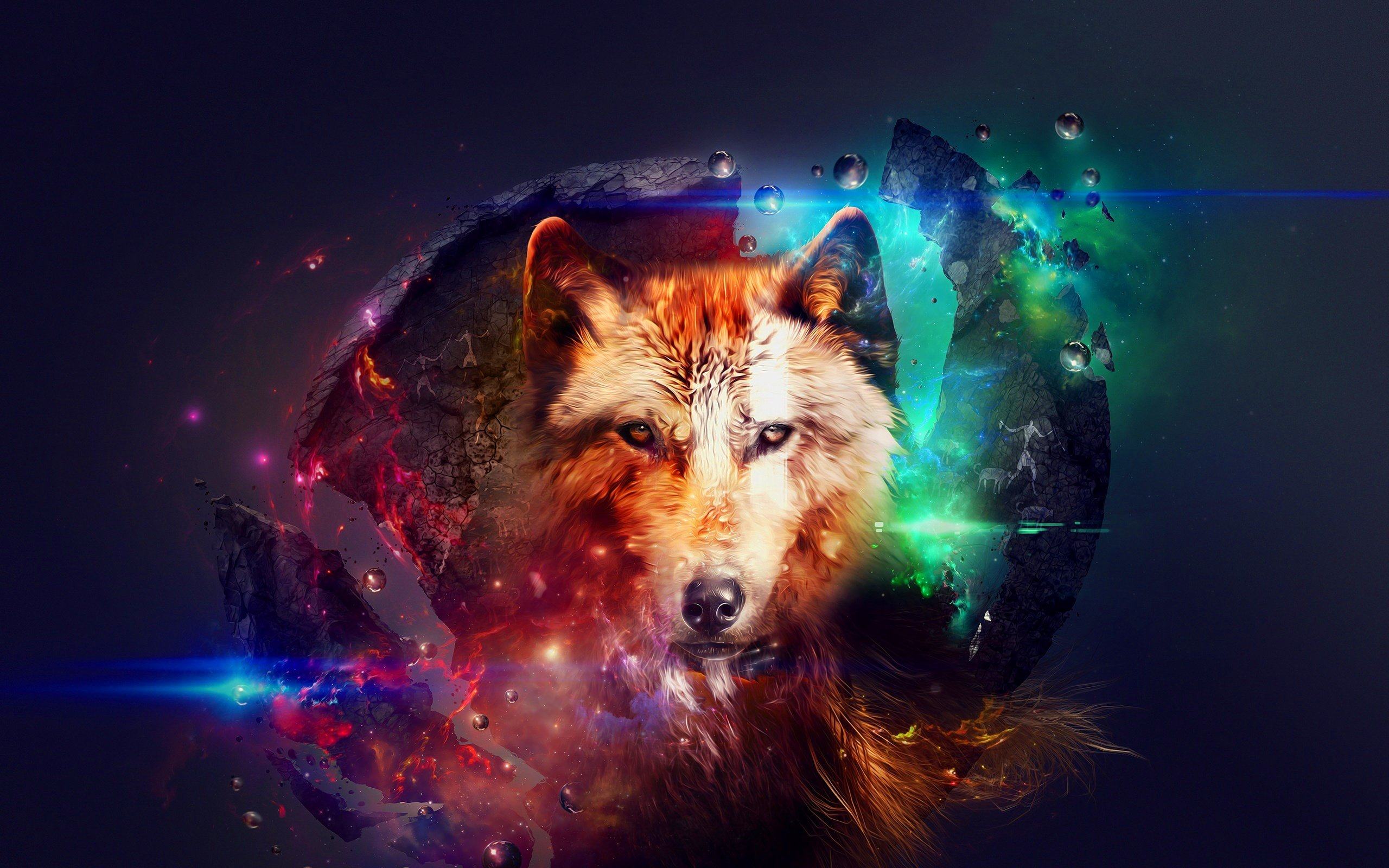 Galaxy Wolf Art Photos Images Pics Pictures Wallpapers image and 2560x1600