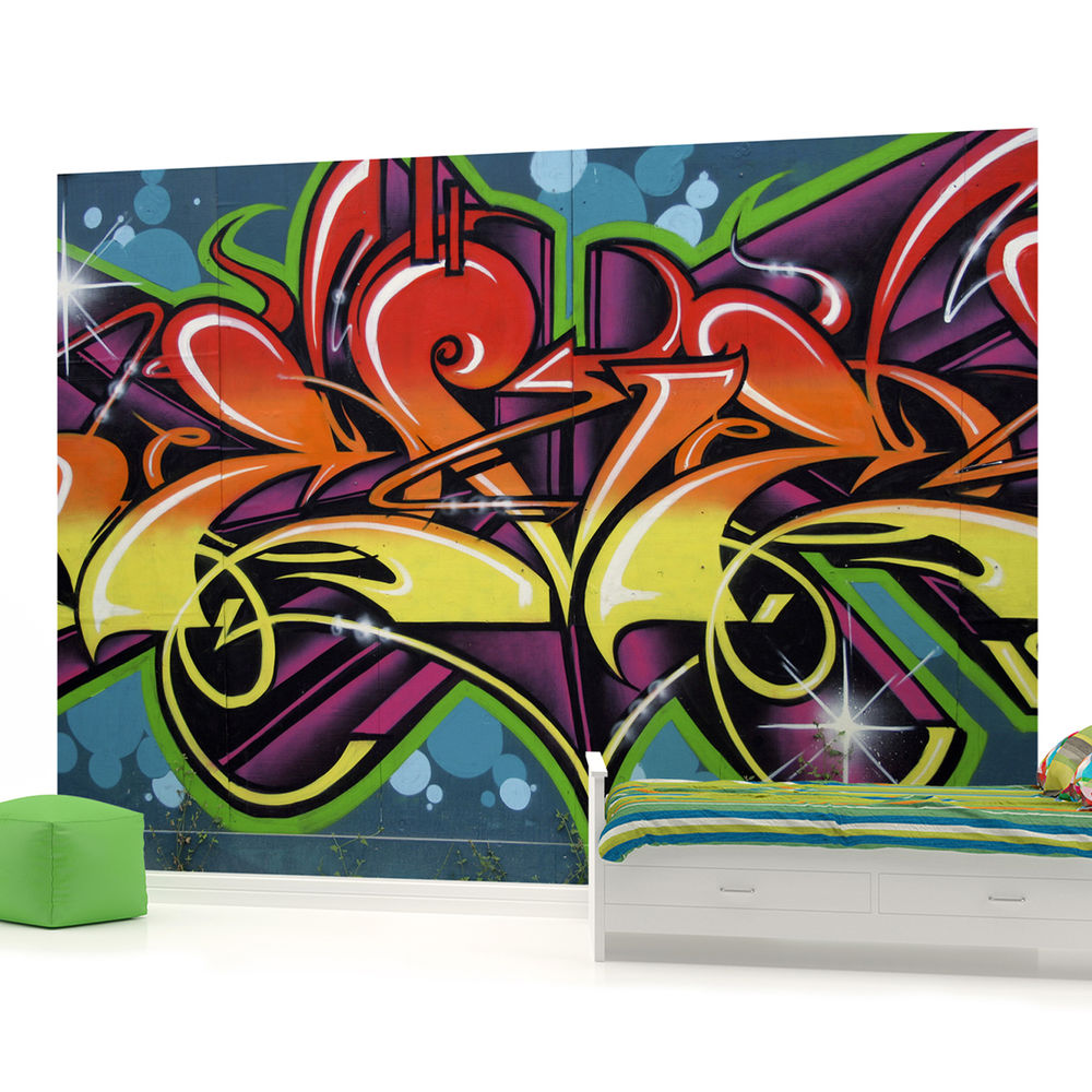 Walltastic Graffiti Wallpaper Mural: Graffiti Wallpaper Murals For Rooms