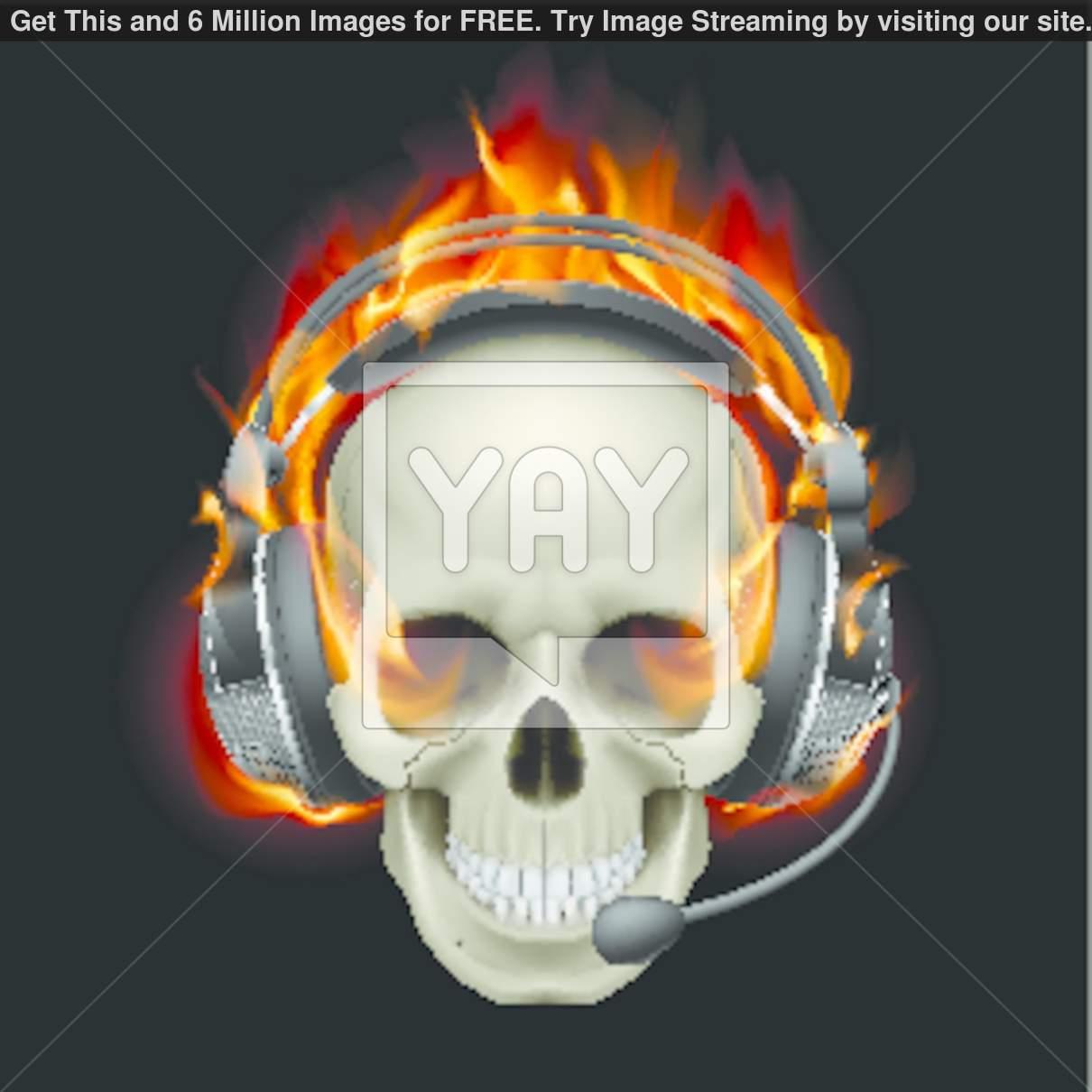 Blue Flame Skull Wallpaper - WallpaperSafari