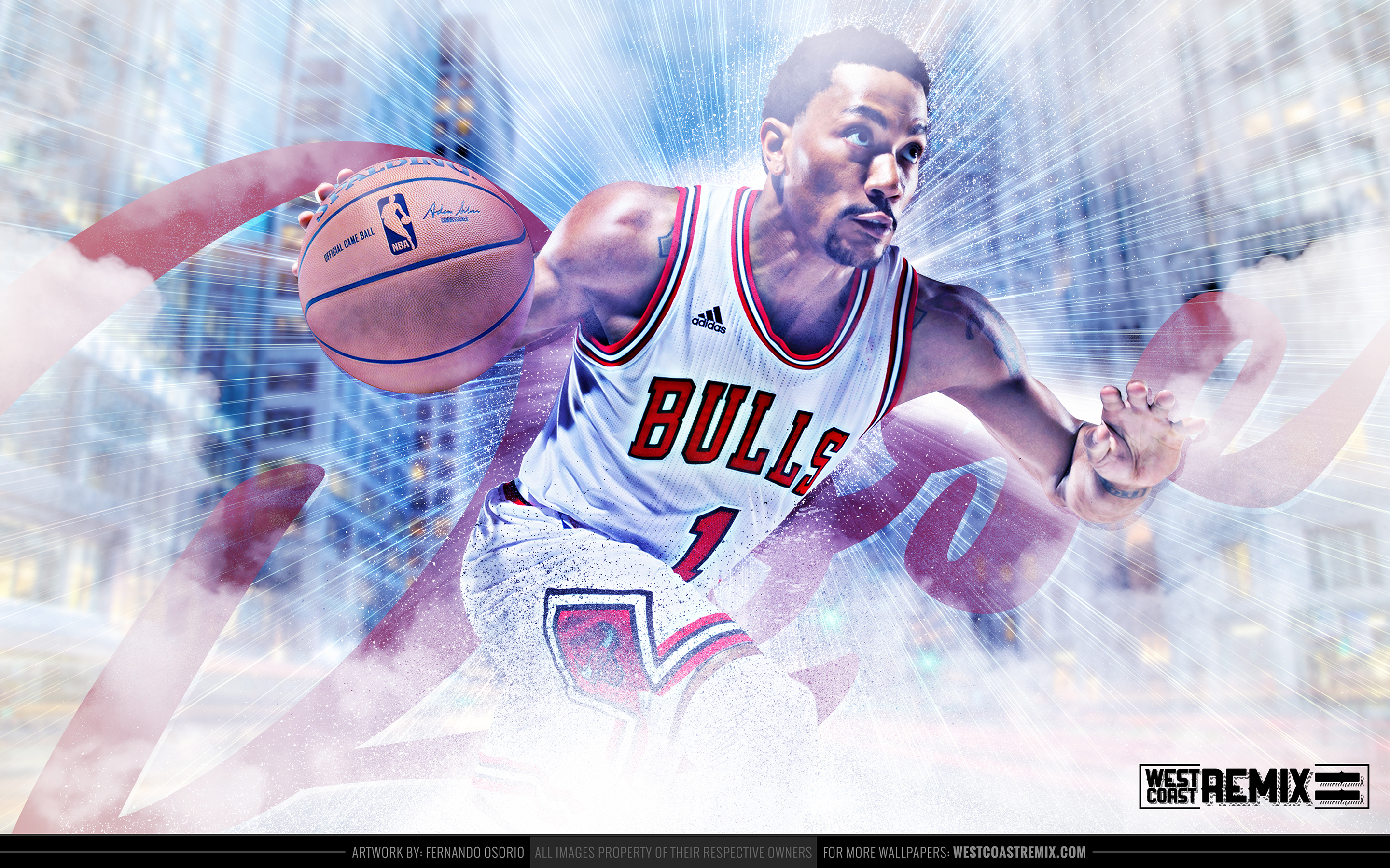 Derrick Rose Wallpaper Art   City Takeover Series 2880x1800