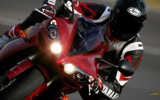 Red Yamaha Motorcycle Wallpaper wallpaper  wallpapers  widescreen 550x344