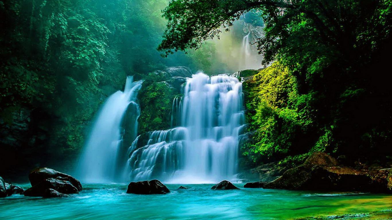 Tropical Waterfall Computer Wallpapers Desktop Backgrounds