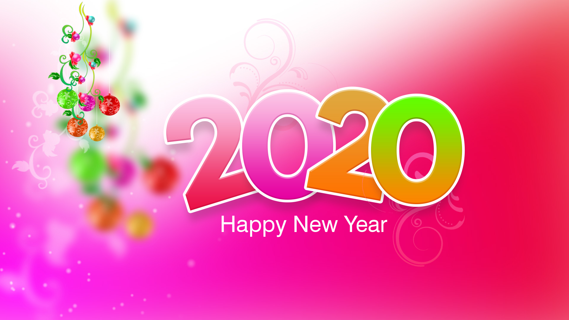 Happy New Year 2020 Cards with Greetings and Wishes for Family 1920x1080