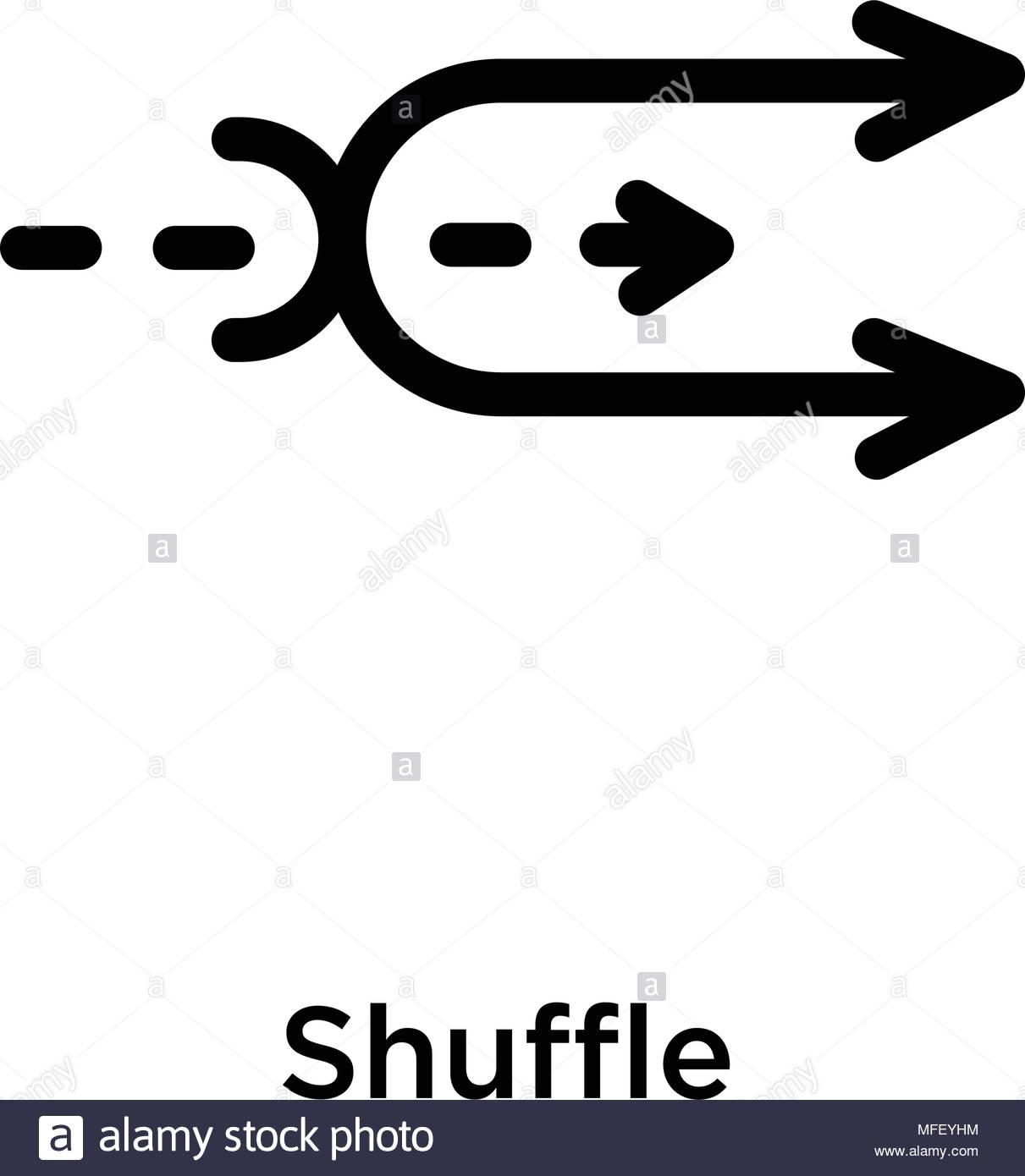 Shuffle icon isolated on white background vector illustration 1211x1390