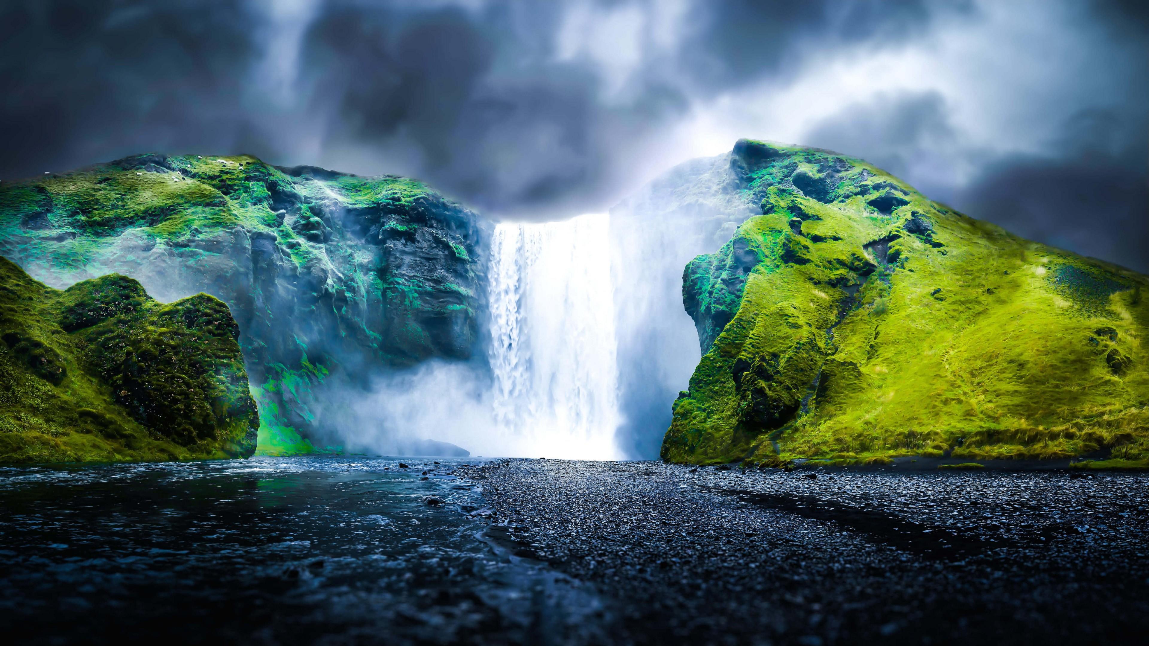 Dreamy Waterfall HD wallpaper for 4K 3840 x 2160   HDwallpapersnet 3840x2160