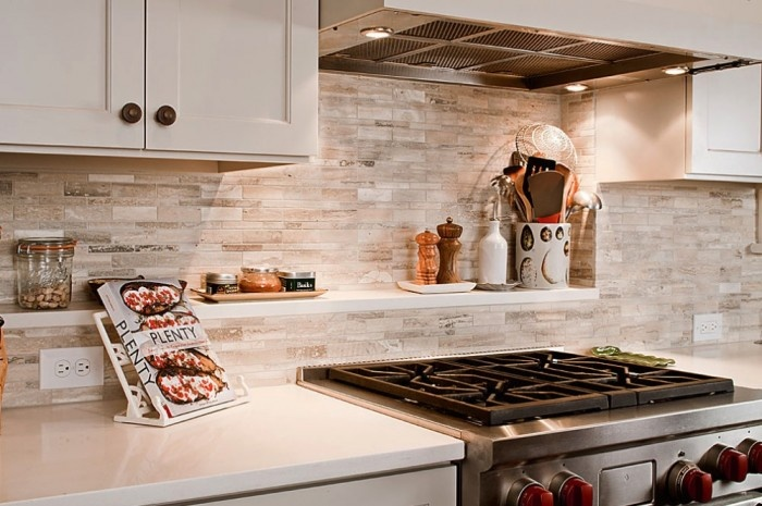 stone 3d wallpaper backsplash kitchen Ideas for the House 700x465