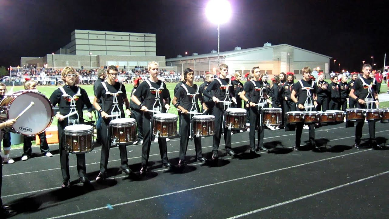 High School Drum Line Performance on Homecoming Night 1280x720