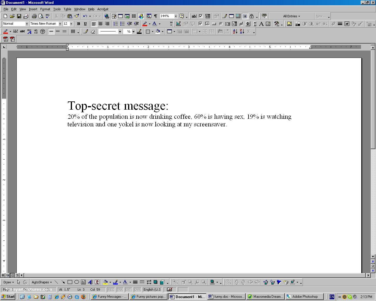 Joke desktop wallpaper Funny Joke desktop wallpaper screensaver 1280x1024