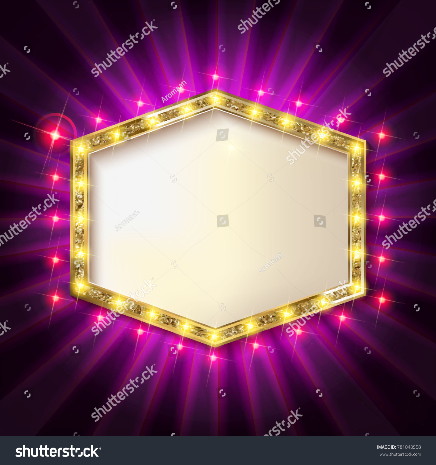 Retro Showtime 1950 S Sign Design Neon Stock Vector Royalty 1500x1600