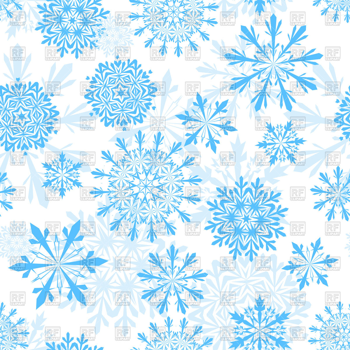 Seamless winter background with snowflakes Vector Image of 1200x1200