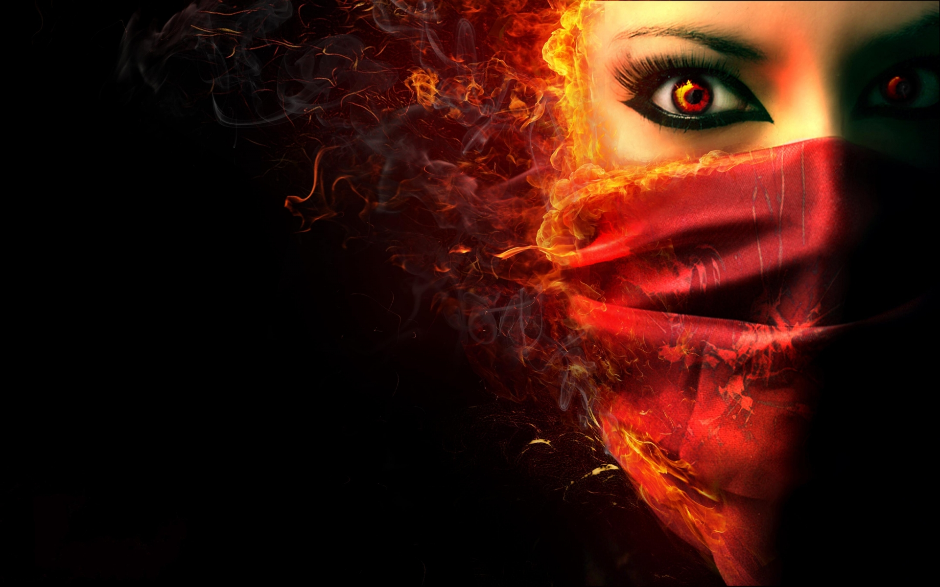 Fantasy dark horror face demon evil women wallpaper 1920x1200 1920x1200