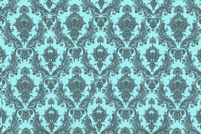 Damsel Removable Wallpaper Aqua Grey   7495 660x439