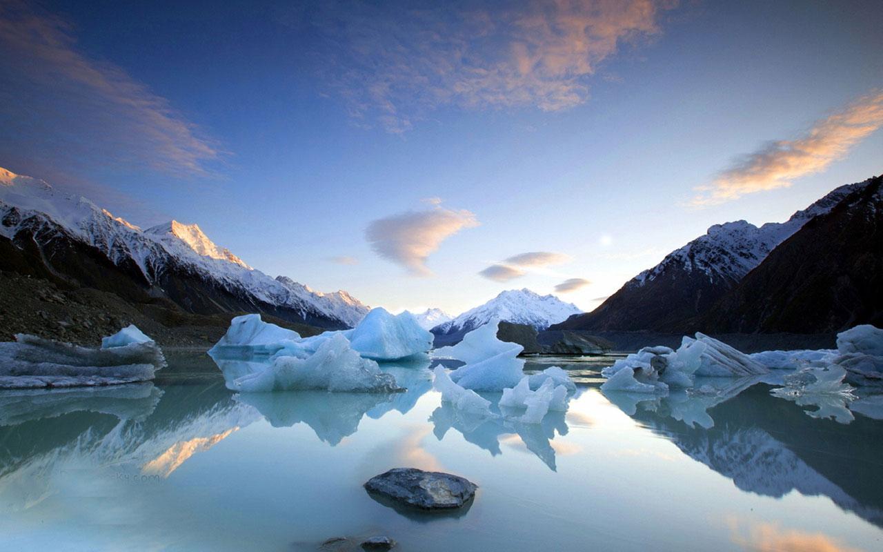 Winter lake views HD photography wallpaper 14 Landscape 1280x800