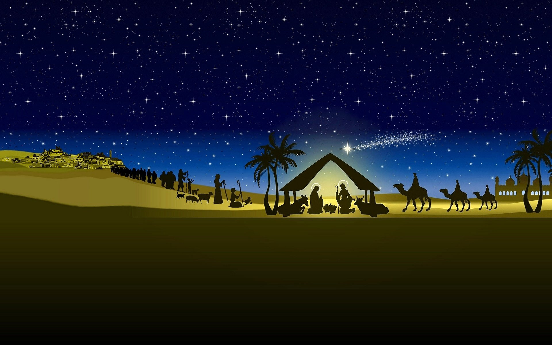 The Nativity Wallpaper The 1920x1200