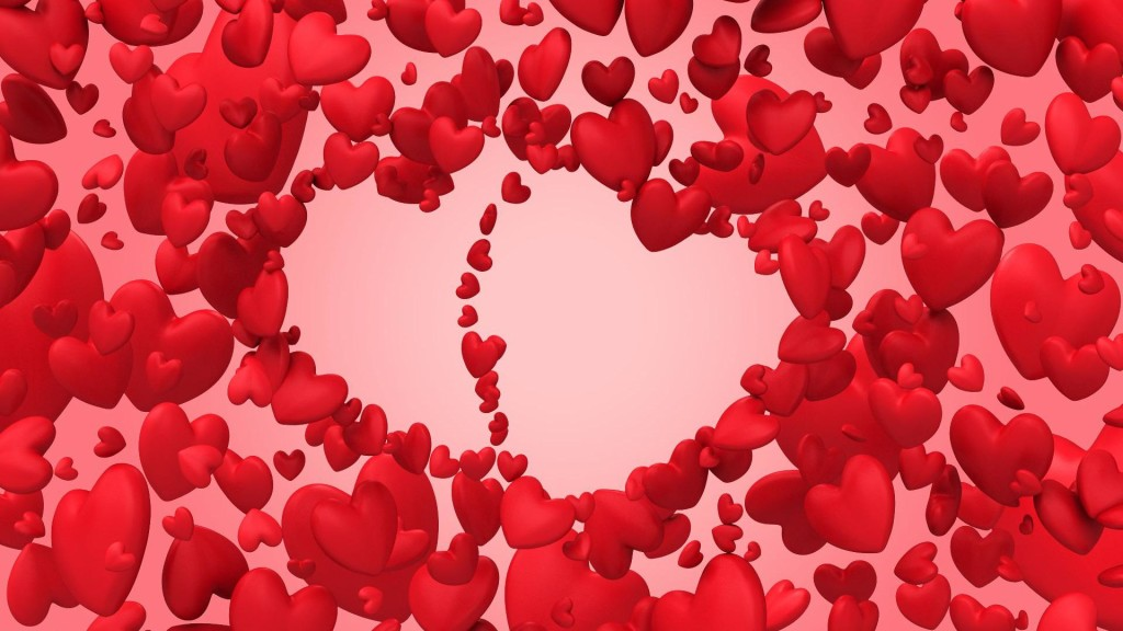 3d Heart Valentine Day HD Widescreen Wallpaper 1024x576