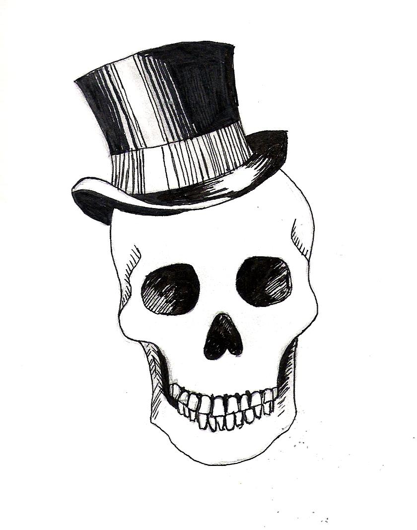 skulls with hats wallpaper wallpapersafari. Black Bedroom Furniture Sets. Home Design Ideas