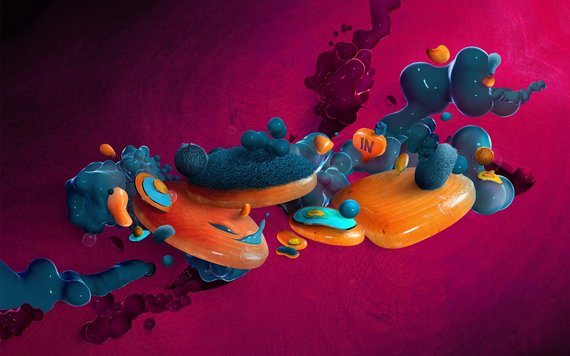 Abstract Design 3d Desktop Hd Wallpaper: 3D Abstract Art Wallpaper