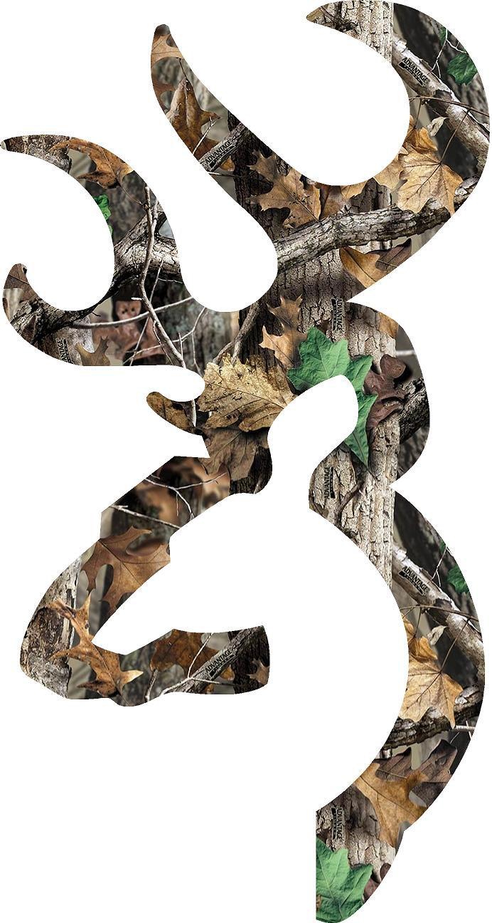 Browning Heart Logo Camo Browning style deer camo 692x1296