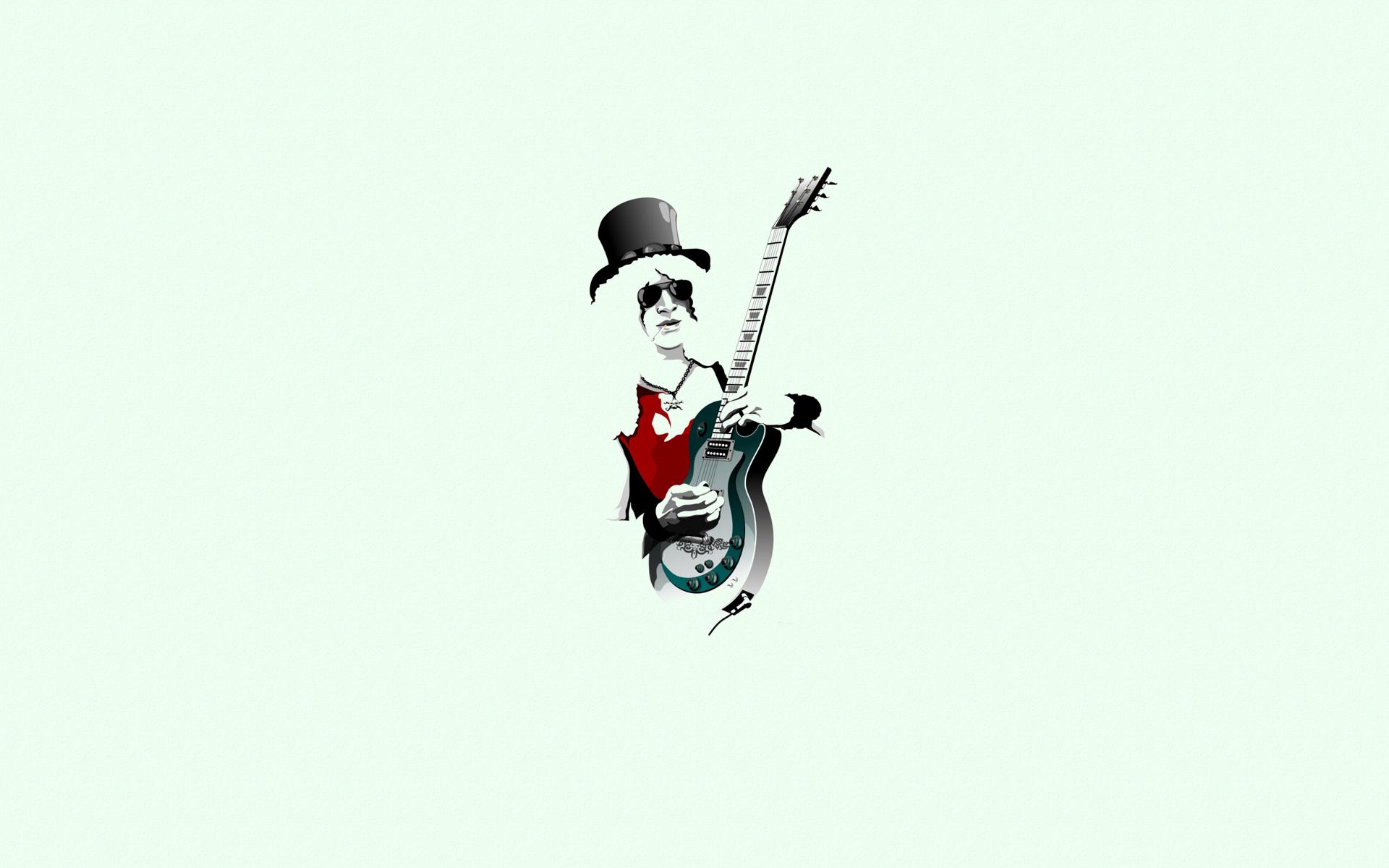 Fotos n roses slash iphone hd wallpaper - Guitarist_guitar_hat_sunglasses_chain_minimalism_slash_guns_roses Html