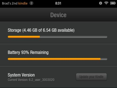 Kindle Fire Update version 62 500x377