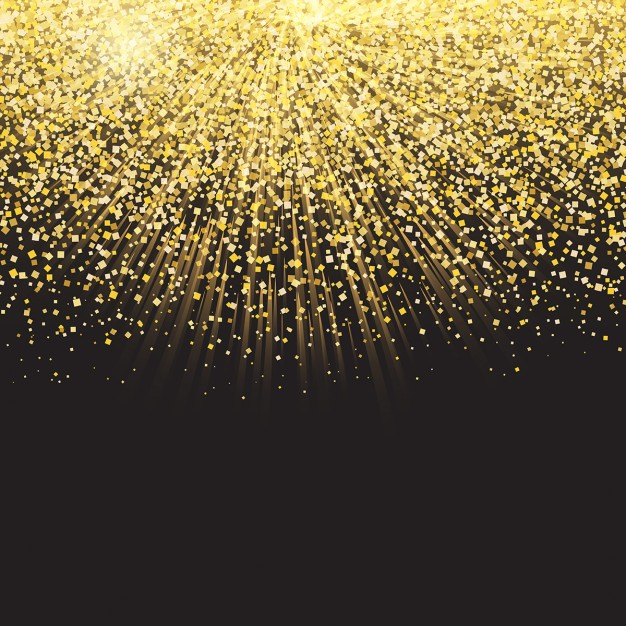 Celebration background with golden confetti Vector 626x626