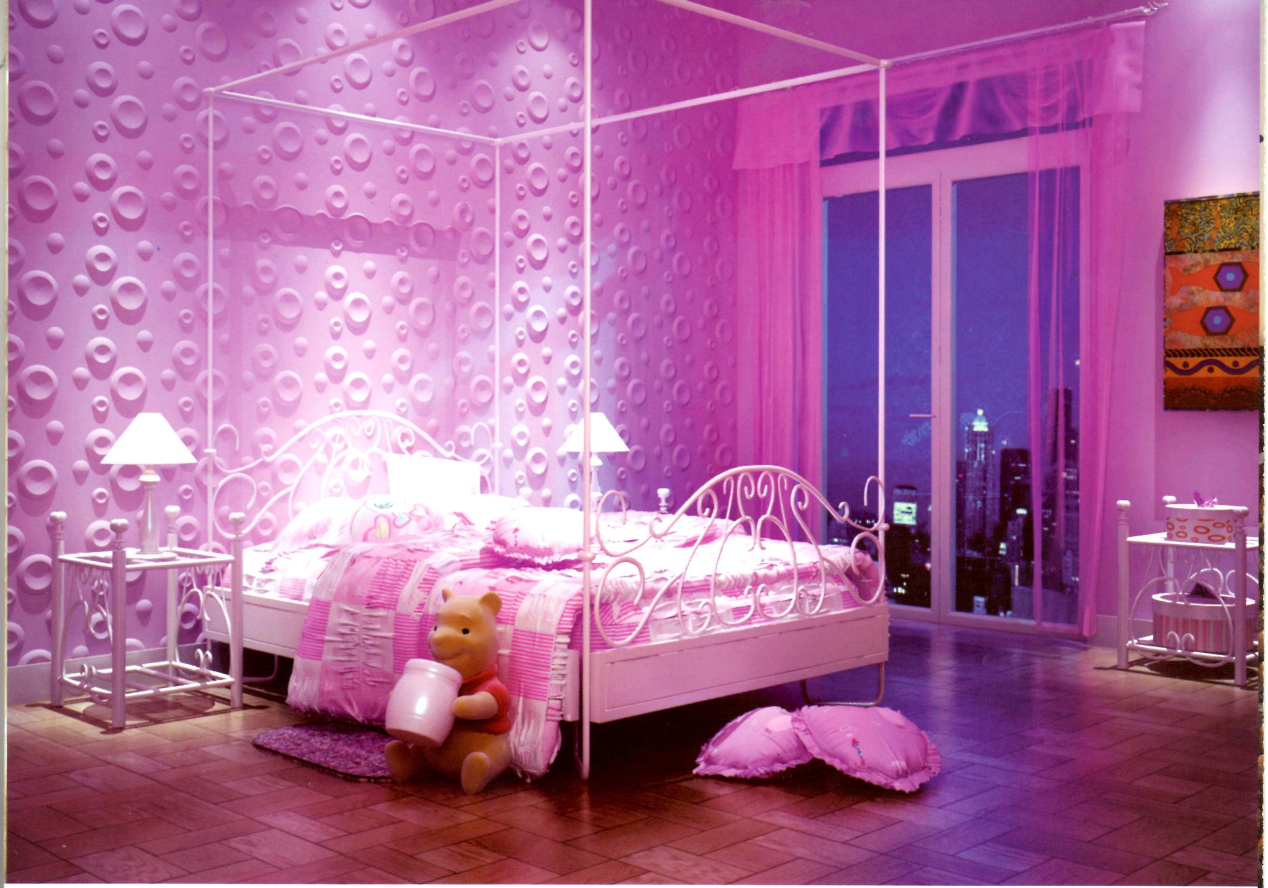 Pink Bedroom Wallpaper Pink Girly Bedroom Wallpaper Hayden Panettiere 2498x1750