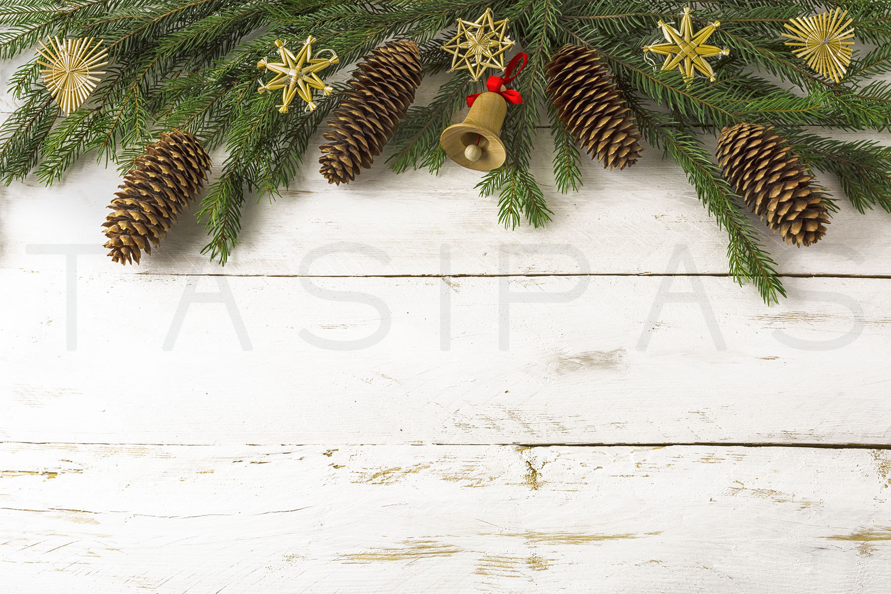 Christmas background wooden jingle bell 1820x1213