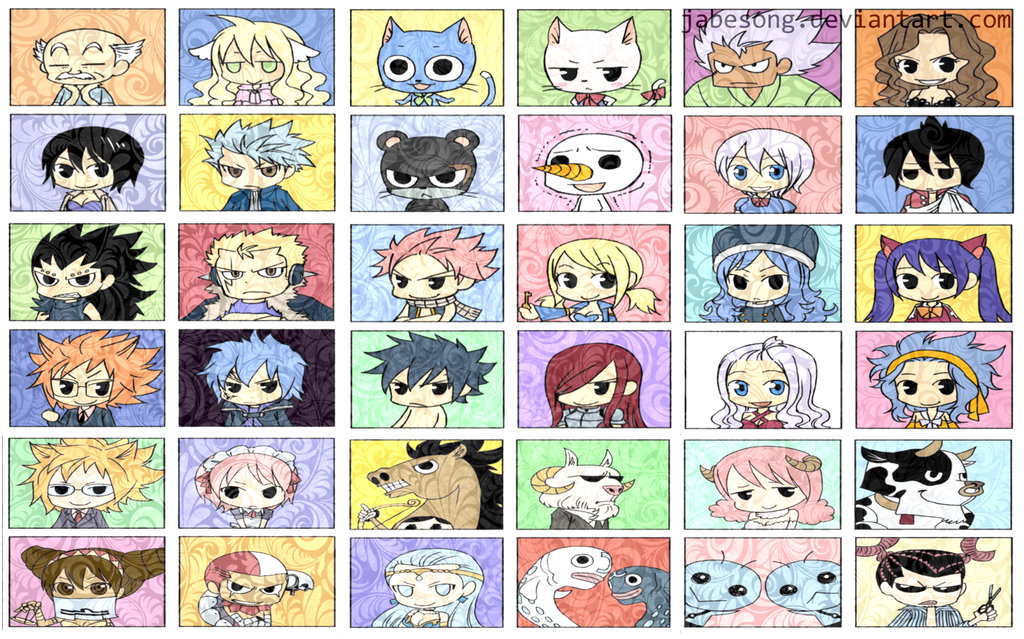 Fairy Tail Chibi Wallpaper v1 by jabesong 1024x639